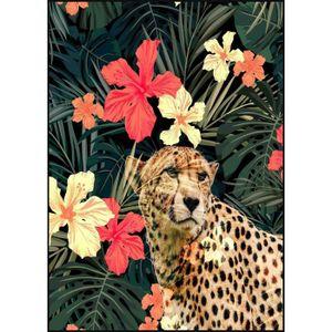 TABLEAU - TOILE Tableau déco glossy Tropical Guepard - 50 x 70 cm