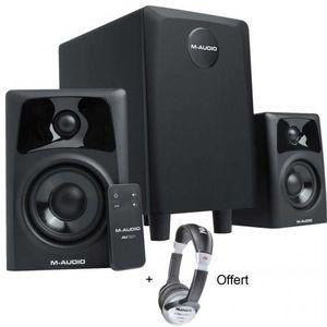 ENCEINTE ET RETOUR Pack M-Audio Studiophile AV 321 - Systeme 2.1 ence