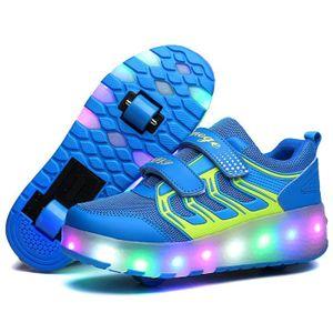Chaussures Roulettes Heelys pour Enfants Garçons Filles Sneakers LED des lumières @KIANII N9FX0XOUCP