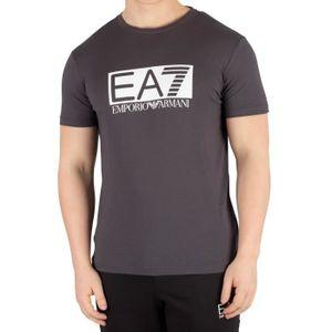T-SHIRT EA7 Homme T-shirt graphique, Gris taille X-Large 3