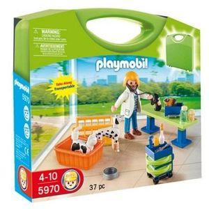 UNIVERS MINIATURE Playmobil  Valisette Vétérinaire Et Animaux
