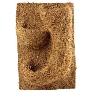 DÉCO ARTIFICIELLE Décor de fond en coco pour terrarium pour planter
