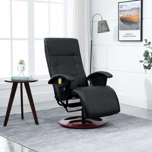 FAUTEUIL Fauteuil inclinable électrique de relaxation Noir