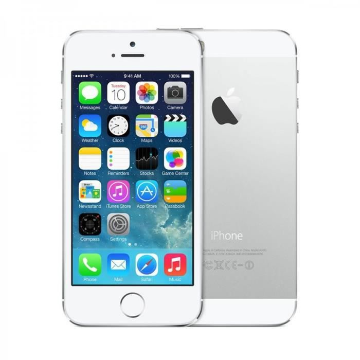 apple iphone 5s 16gb reconditionn neuf argent achat. Black Bedroom Furniture Sets. Home Design Ideas