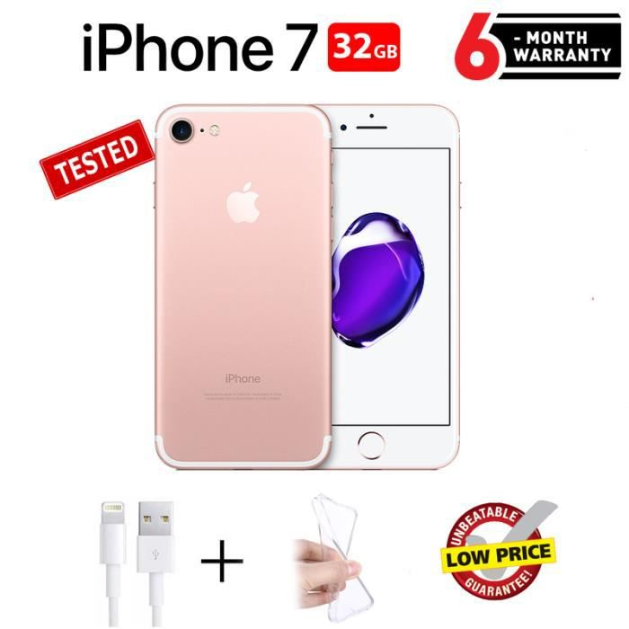 Apple Iphone 7 Rose Gold 32go Reconditionne Achat Smartphone