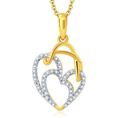 or pour femme incroyable et rhodié Cz Pendentif coeur avec chaîne PourM0C9N