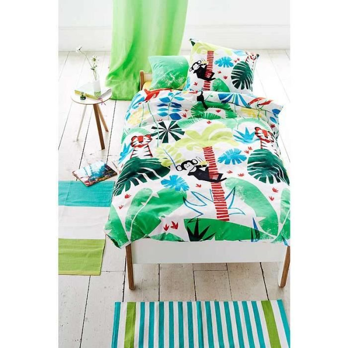 housse de couette enfant jungle designers guild 140x200 cm multicolore achat vente housse de. Black Bedroom Furniture Sets. Home Design Ideas