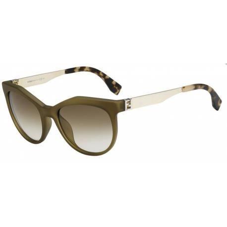 Achetez Lunettes de soleil Fendi Femme FF 0049/S MOK (DB) vertes dorées