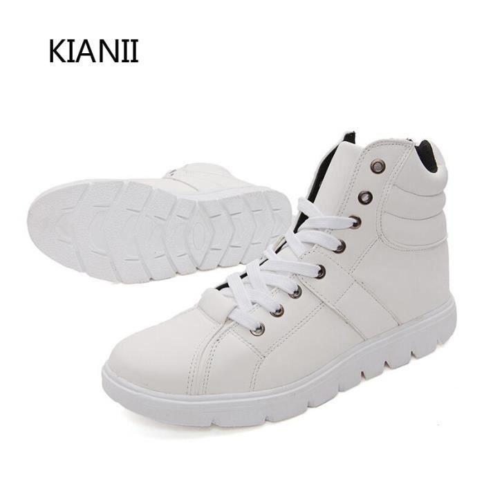 Hommes Chaussures de skate Haut Aide Noir / Blanc