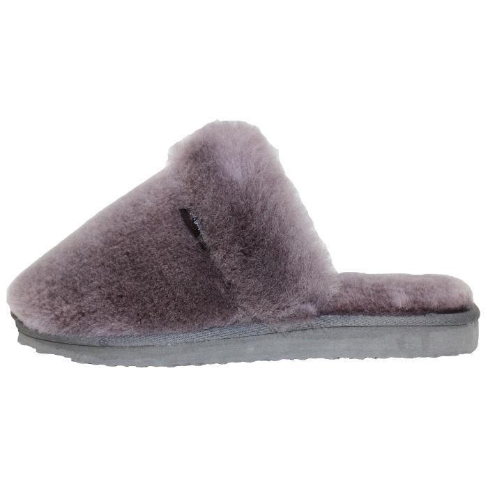 Véritables Australian Sheepskin chaussons en peau de mouton chaussons en laine de mouton Super épais haut de gamme laine de mouton S