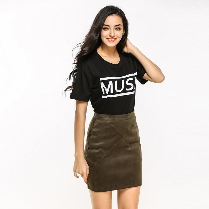 d39c88b220a81 Mini courte Noir femme mode femme FZ4017 SHT Jupe jupe pour court ...