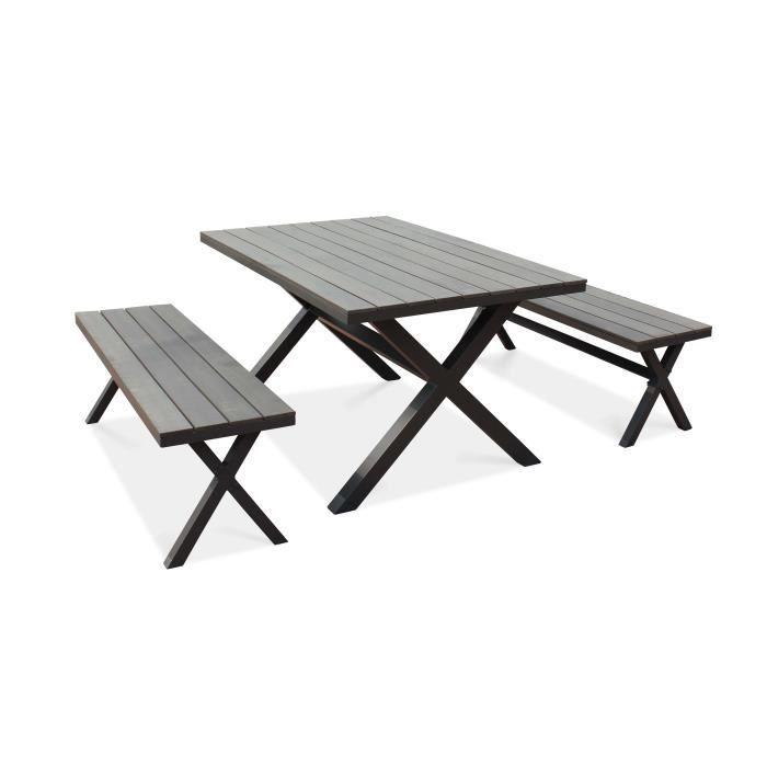 Ensemble table et banc de jardin - Achat / Vente pas cher