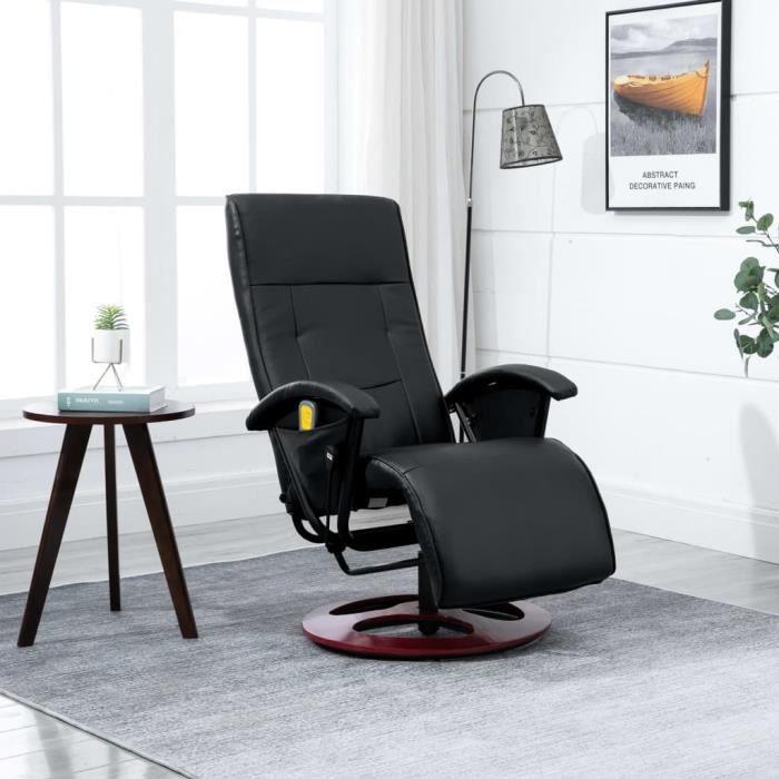 Fauteuil inclinable électrique de relaxation Noir avec 10 programmes