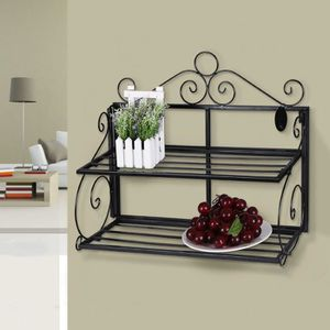 etagere murale en fer forge achat vente pas cher. Black Bedroom Furniture Sets. Home Design Ideas
