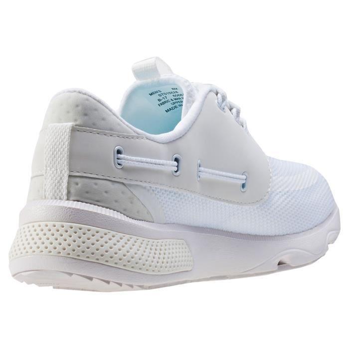 Sperry 7 Seas 3-eye Hommes Baskets White - 9 UK UgQSUsITlx