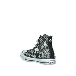 CONVERSE FEMME CNVRSPLTLTHRBLKSLVR NOIR CUIR BASKETS MONTANTES PWtJ6RJ5S