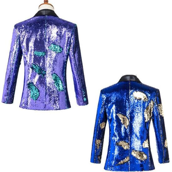 Moyen Marque Paillettes Et Costume Robe Long Veste Bicolores fdTWawTq
