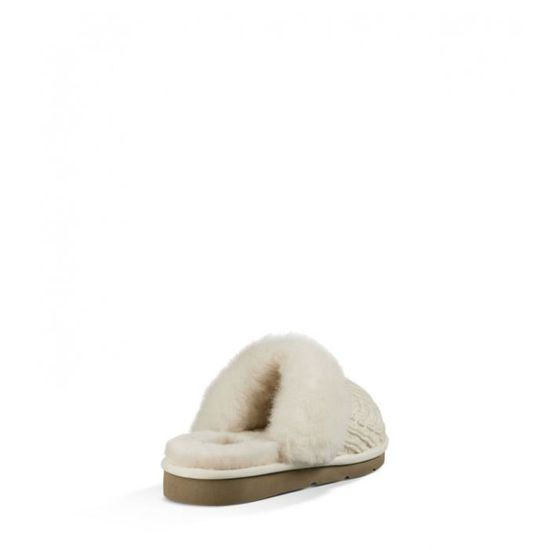 CHAUSSONS UGG AUSTRALIA COZY KNIT CREAM Femme Chaussures