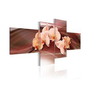 TABLEAU - TOILE Tableau Orchidée Rose - Dimension - 100x45.