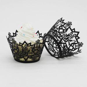 COFFRET DE DÉCORATION Bougie de Noël creux Coupe dentelle Muffin gâteau