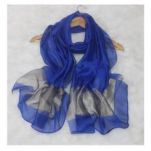 ECHARPE - FOULARD Foulard Etole Femme Soie Bleue Neuf 6882e3d2f52