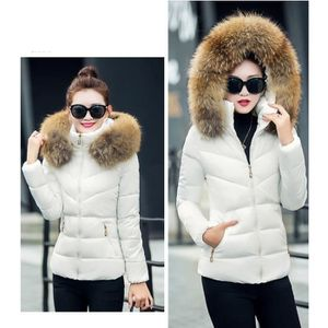 Doudoune femme à capuche fourrure Casual parka fourrure manteau femme hiver  Grande Taille classique Duvet Épais 2869e8a3536