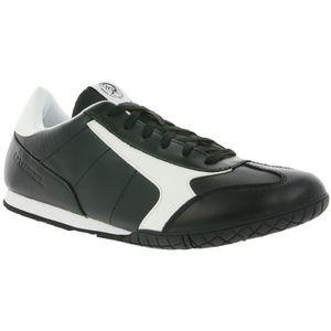 BASKET DIESEL S-Actwyngs hommes sneaker en cuir noir Y013