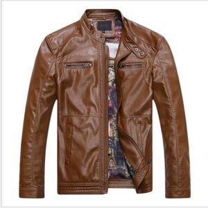 e259a90efdd BLOUSON Manteau de mode pour hommes moto en cuir PU grande