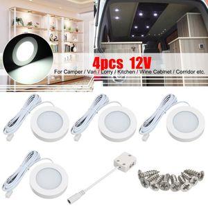 AMPOULE TABLEAU BORD T4W 4Pcs 12V Intérieur LED Spot Light Projecteur P