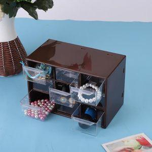BOITE DE RANGEMENT Boîte de rangement cosmétique avec 9 grilles tiroi
