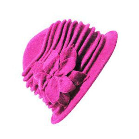 style le plus récent divers design livraison rapide Chapeaux de cloche en pur laine Benoit rose Rose - Achat ...