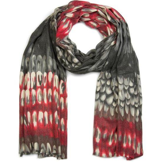 StyleBREAKER châle doux avec motif écaille et franges, châle tricoté  d hiver, tissu, femme 01017057  Gris foncé  Gris - Achat   Vente echarpe -  foulard ... 688461fb304