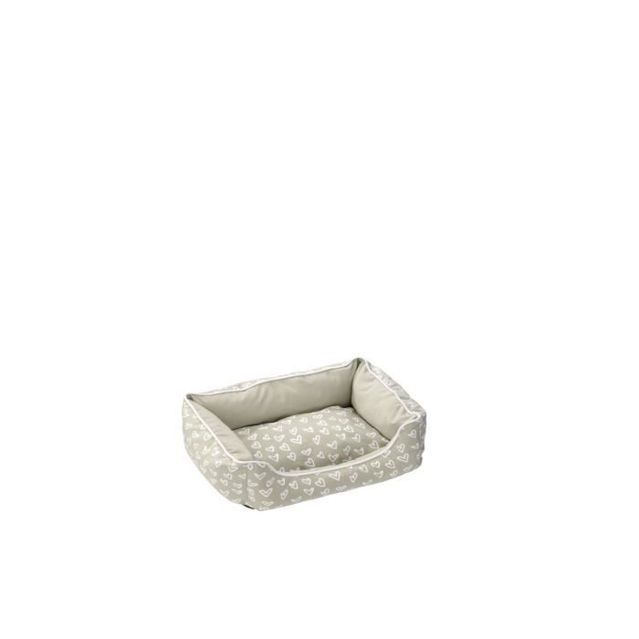 Coussin Lovely Domino-Bed - 60 x 45 x 24cm - Beige / BlancCORBEILLE - PANIER - COUSSIN - HAMAC - LIT