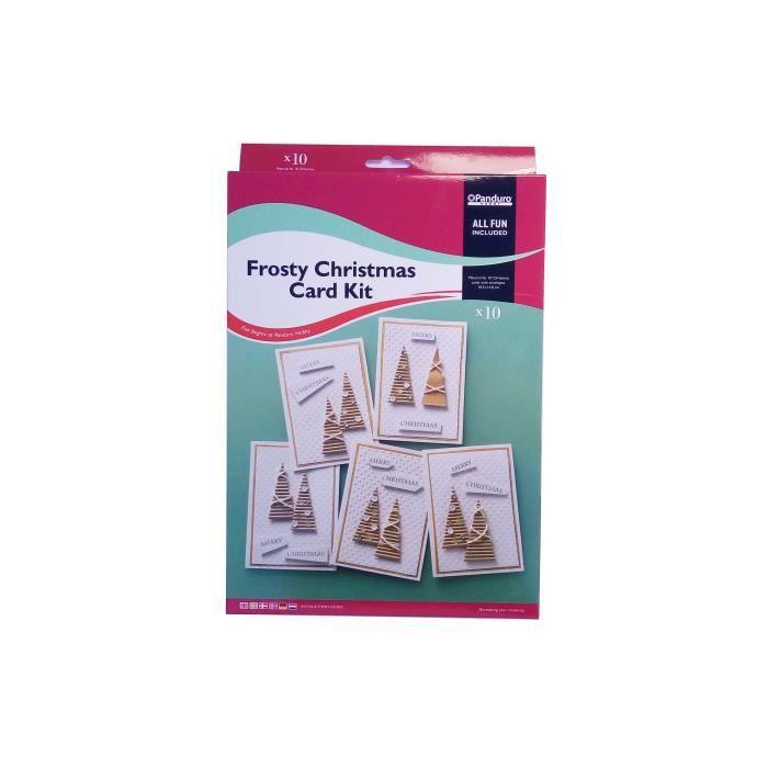PANDURO Kit cartes de vŒux Frosty Christmas - Pour réaliser 10 cartes - 10 pc