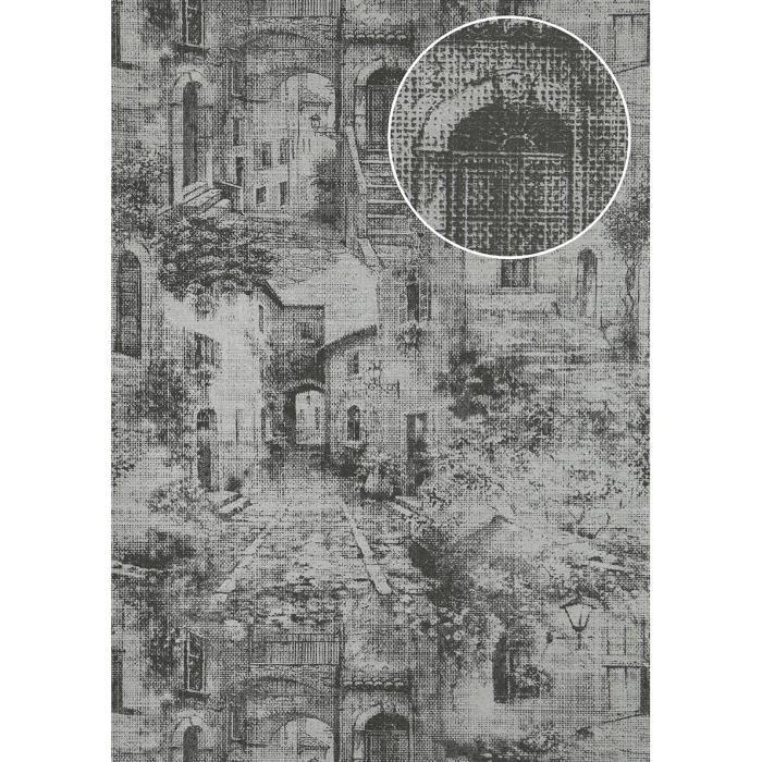 Papier Peint A Motifs Graphiques Atlas Sig 975 2 Papier Peint
