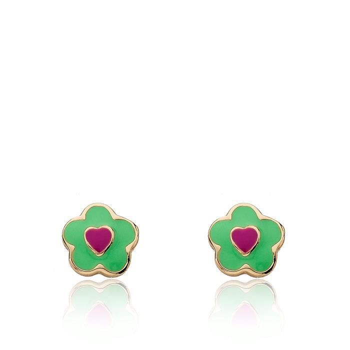 Little Miss Twin Stars Girls frosted Flower 14k Gold-plated Flower Earrings LPQHQ