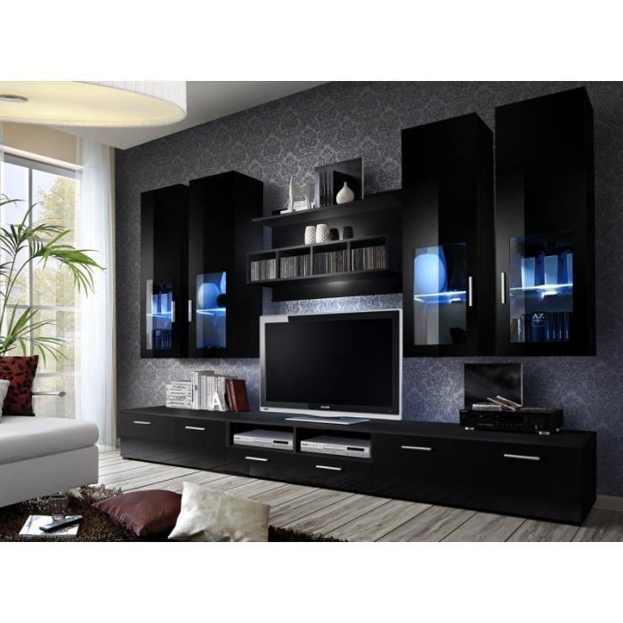 Ensemble meuble tv lyra night noir achat vente for Ensemble de meuble de salon