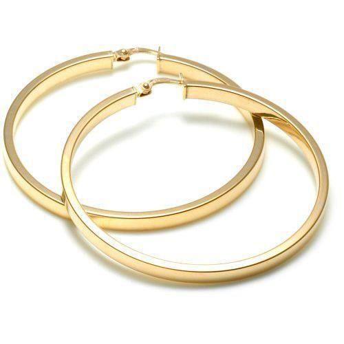 Boucles d`oreilles créoles - Femme - Or jaune 9 carats 2.4 Gr