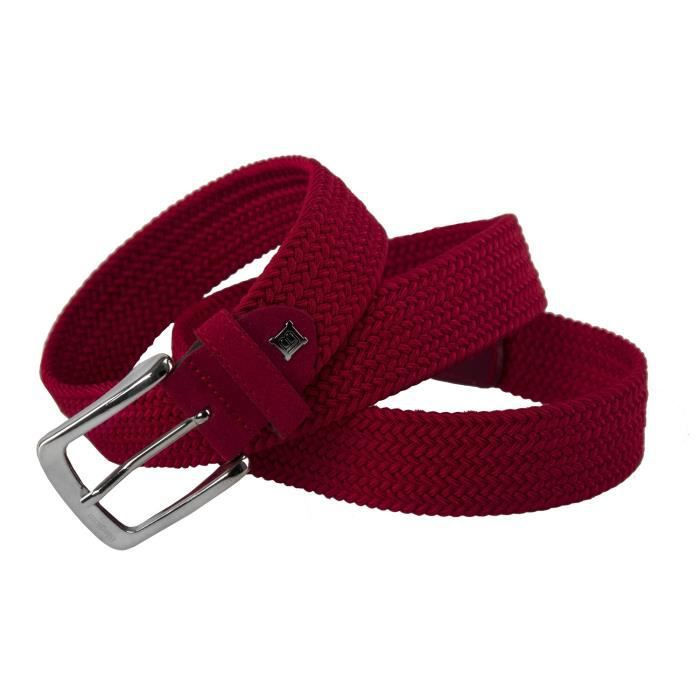 8d64ddc3e1a Ceinture homme LAURA BIAGIOTTI rouge MADE IN ITALY corde elastique 117 cm  R6026