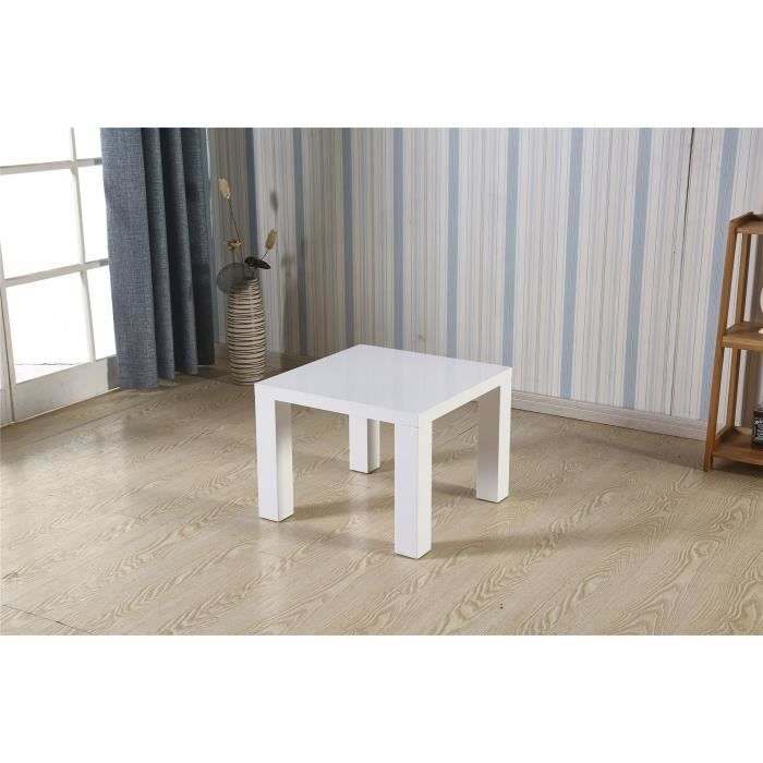 table laquee blanche carree - achat / vente table laquee blanche