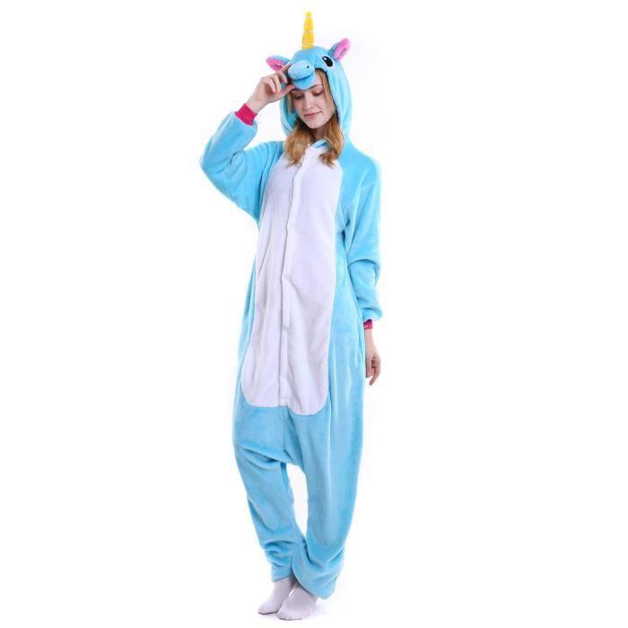 pyjamas combinaison licorne bleue adultes kigu d guisement grenouill re bleue achat vente. Black Bedroom Furniture Sets. Home Design Ideas