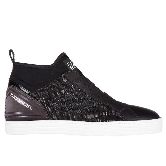 Chaussures baskets sneakers hautes femmer182 mid cut elastici Hogan Rebel pgfRpXh