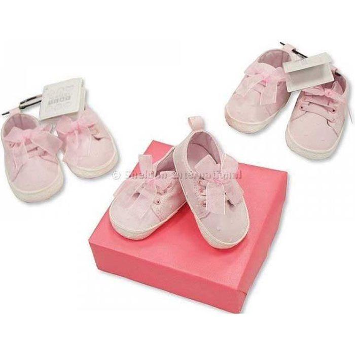 /Âge: 0 ~ 6 Mois, rose IGEMY Nouveau-n/é Petites filles b/éb/é Chaussures Doux Unique Antid/érapant Baskets Bowknot Chaussures