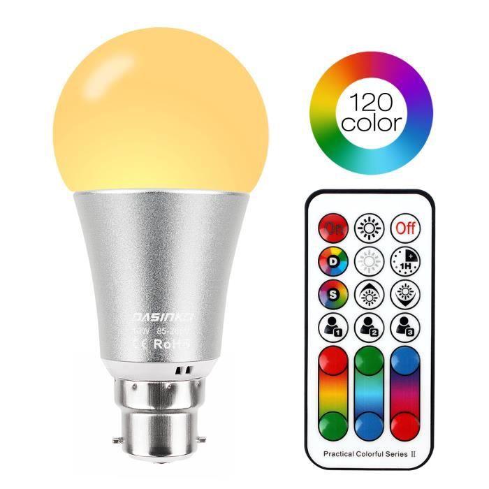 Netboat Lampe Ampoule A Changement De Couleur Ampoule Led B22 10w