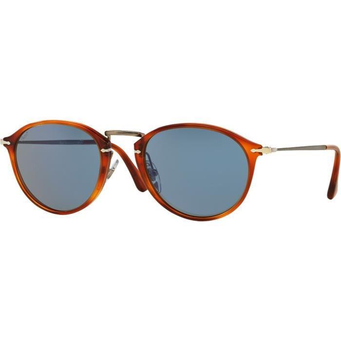Lunettes de soleil Persol 3046S Reflex Edition Havana Bleu 49 Ecaille