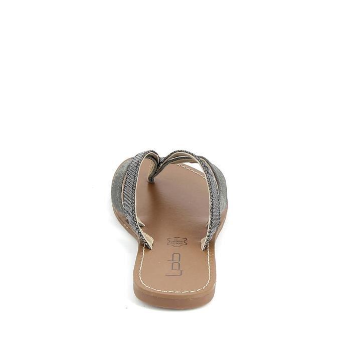 Nu pieds et sandales LPB Kalinda Noir