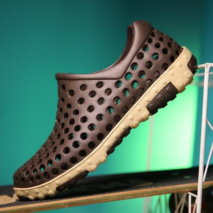 chaussures multisport Homme Plage d'étéChaussons sport de grande taille (4) Couleur marron taille41