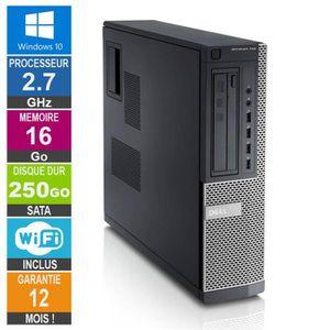 UNITÉ CENTRALE  PC Dell Optiplex 790 DT G630 2.70GHz 16Go/250Go Wi