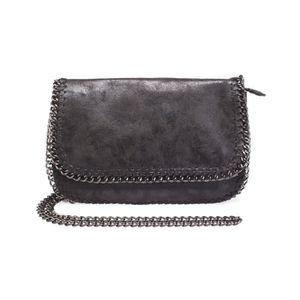8053bf2de5 Sac en bandoulière noir avec anses en chaînes- U Noir - Achat ...