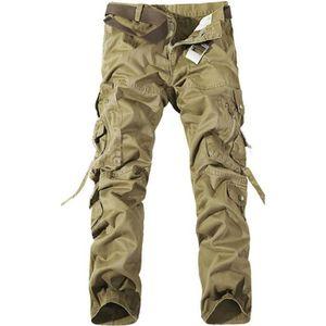 PANTALON Pantalon Cargo Homme  Marque Luxe Coton Pantalo...